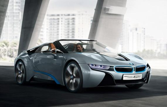 BMW представляет новый спорткар i8 Concept Spyder